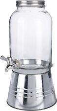 Glas Getränke Spender 3,6L mit Standfuß - Zapfhahn + Gestell - Saftspender Fuß