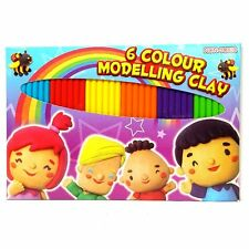 Pack of 6 Colour Modelling Clay Set - Fun Children's Craft Toy Activity