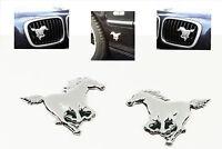 WOW 2x Aufkleber Pferde Pferd Chrom KFZ Emblem LKW AUTO Tuning