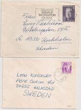 2 COVER RATTEN WIEN AUSTRIA AUTRICHE TO SWEDEN. L988