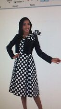 """TALLY TAYLOR DRESS SUIT/BLACK/WHITE/SIZE 22W/LENGTH 42""""/LINED/RETAIL$219"""