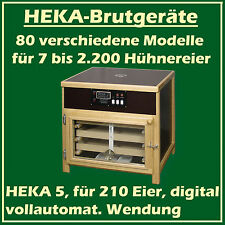 """Heka 5-Fully-Automatic Egg-Incubator for 210 Chicken-eggs - """"Made in Germany"""""""