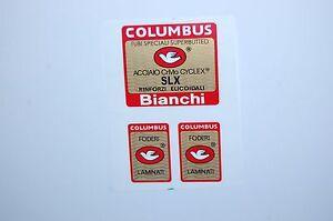 Columbus E.BIANCHI SLX frame +2 fork decals , stickers