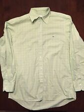 Locoste Lime Green Plaid Button Up Long Sleeve Shirt   Mens Sz 42