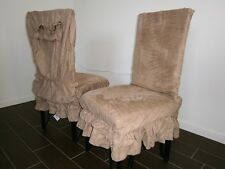 """Soft Micro Suede Shortly Dining Chair Covers fit 39""""- 42""""H back chair more color"""
