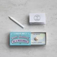 HAPPY BIRTHDAY IN A MATCHBOX by MARVLING BROS. Hand made in UK.
