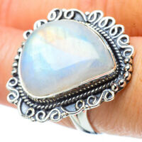 Large Rainbow Moonstone 925 Sterling Silver Ring Size 8 Ana Co Jewelry R31820F