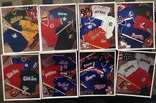odd? MAJOR LEAGUE BASEBALL jersey/shirt/cards/bat/glove COLLAGE PHOTO LOT(8)1986