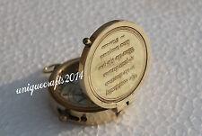 "Decorative Handmade Nautical Maritime Flat Pocket Compass 2"" Brass Polish Gift."