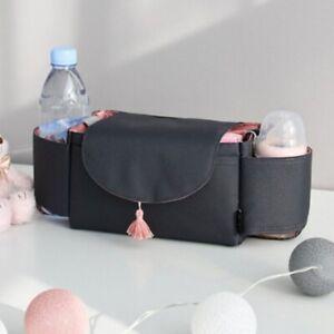 Mummy Bag Baby Organiser Bottle Cup Holder Storage Buggy Stroller Pram Pushchair