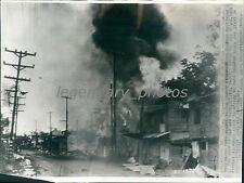 1942 World War II War Damage in Barrio Paranaque Original Wirephoto
