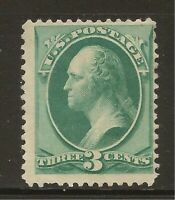 1879 SC #184 3 cent Washington Unused OG LH DG - F - CV $90.00 (42831)
