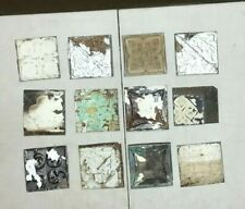 12 Antique Tin Metal Ceiling 6x6 Multi Color Crafts Art Projects VTG 19-20A