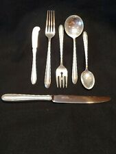 Towle Sterling Silver Flutes 1941 Pattern 6 Piece Place Setting No Mono +6 oz