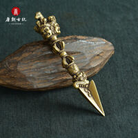 Weapon paper weight  Tibetan silver four treasures of the study A pair of
