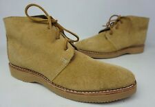 Wolverine Palmer Plain Toe Chukka Camel Suede Boots W40134 Size 8.5 D