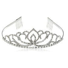 Wedding Pageant Crown Adult Tiaras and Crystal Bridal Tiara with Hair Side Combs