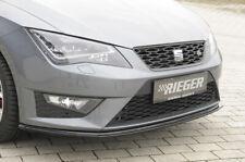 Rieger CUP Spoilerlippe SCHWARZ für Seat Leon Cupra FR Frontspoiler Schwert ABS