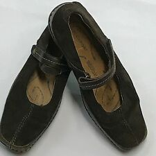Women's Wide Rockport Leather Brown Shoes 7.5
