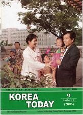 North Korea Propaganda Magazine KOREA TODAY rare September 2006 issue DPRK KDVR