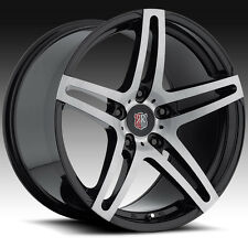 Roderick RW5 19x8.5/19x11 5x130 Brushed Black Wheels(set of 4)