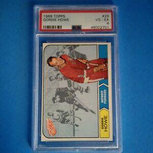 1968-69 TOPPS VINTAGE HOCKEY # 29 GORDIE HOWE HOF DETROIT RED WINGS PSA 4 VG-EX