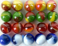 20 STADIUM CHECKERS Replacement Marbles Marble Run Game Small 12mm GLASS
