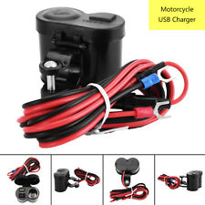 12V/24V Motorcycle Waterproof USB Charger Phone Power Socket Adapter Outlet