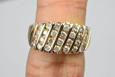 Woman's 10k Solid Yellow Gold Cluster Diamond Band 1.0 ct G/I1 Ring