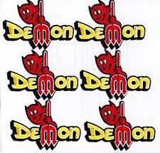 DODGE DEMON (6) SEW/IRON ON PATCH EMBROIDERED HEMI MOPAR CAR EMBLEM