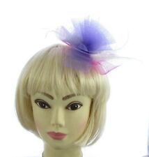 Fascinator light lilac& pink mesh hair clip ,  Weddings, Races, Ladies Day