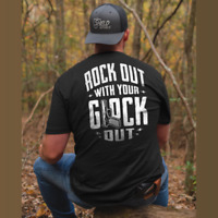 Rock Out With Your Glock Out 2nd Amendment Men Black Tee T Shirt