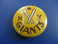 Vintage 1940's New York Giants (Yellow Variation) Pin-back Button  !!!