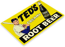 Ted Williams Creamy Root Beer Red Sox Baseball MLB Retro Vintage Metal Tin Sign