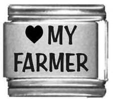 Clearly Charming Heart my Farmer Laser Italian Charm