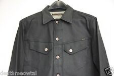 RARE Nudie Jeans Company Conny Dry Black Coated Denim Jacket Medium M