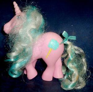 Rose: My Little Pony Vintage Candy Cane Unicorn Sugar Sweet VERY GOOD G1