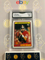 1988 Topps Joe Montana #4 Record Breaker - 10 GEM MINT GMA Graded Football Card
