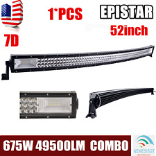 "52""INCH 675W LED CURVED WORK LIGHT BAR FLOOD SPOT COMBO OFFROAD SUV ATV for JEEP"