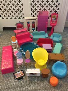 Barbie Furniture Bundle, Shower Beds Sofas