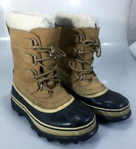 Sorel Womens 7 Caribou Winter Duck Boots Buff 5.5UK 38 2/3 EU NL1005-280