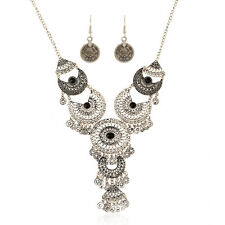 Charm Gypsy Ethnic Turkish Boho Coin Chain Necklace Earrings Tassel Jewelry