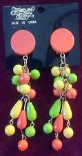 Fairland Creation Tropical Party Multi-color Costume Dangle Clip-on Earrings Org