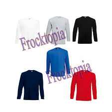 Fruit Of The Loom Long Sleeve Valueweight T-Shirt - Adult tops - sizes s to 2xl