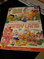 Hasbro Candy Land & 2005 Chutes and Ladders Board Games Preschool 100%