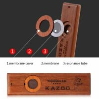 Vintage Wooden Kazoo Ukulele Guitar Partner Wind Instrument Toy with Accessories
