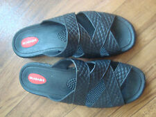 WOMENS SLIP ON ATTRACTIVE BLACK FLAT RUBBER WATER SHOES**SIZE M/L**OKABASHI**