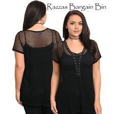 New Ladies Black Net Overtop Plus Size 16-18/2XL (1130)PA