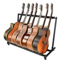 Multiple Guitar Stand 5 Rack Folding Holder Guitars Organizer Acoustic Bass