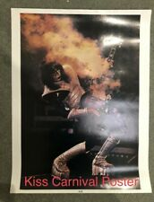 Rare KISS Ace Frehley Burning Guitar Carnival Poster, ex condition. Never hung.